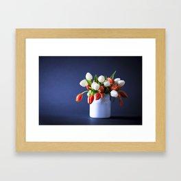 She Bought her own Flowers Framed Art Print