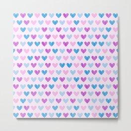 Colorful hearts VII Metal Print