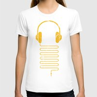 carnage T-shirts featuring Gold Headphones by Sitchko Igor