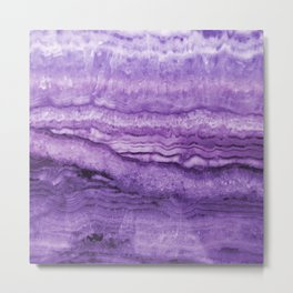 Mystic Stone Wild Violet Metal Print