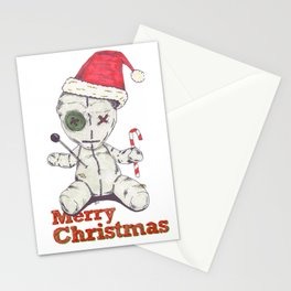 Merry Christmas Voodoo Doll Stationery Cards
