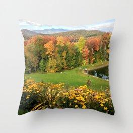Vermont Foliage Watercolor Throw Pillow