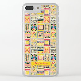 Block Party Clear iPhone Case