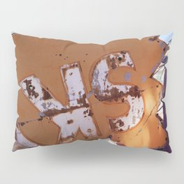 Broken Down Orange Signs in Las Vegas Pillow Sham