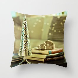 Disco Tree Throw Pillow