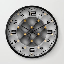 Luxury Tufted Gold Diamond 3 Wall Clock