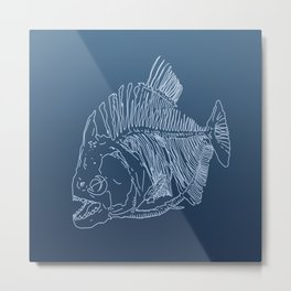 Darker Piranha Metal Print