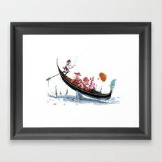 Pin up Venise Framed Art Print