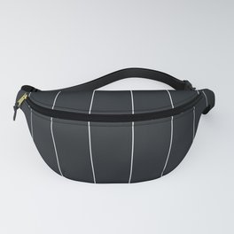 White and black pinstripes Fanny Pack