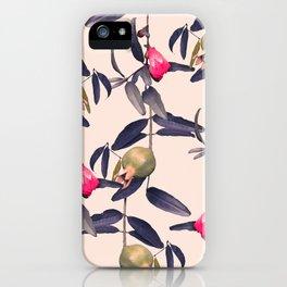 Pomegranate Vine in Blue Hue iPhone Case