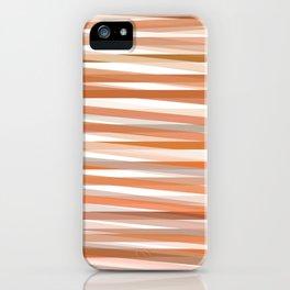 Fall Orange brown Neutral stripes Minimalist iPhone Case