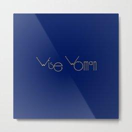 Wise Woman Futuristic Typography Metal Print