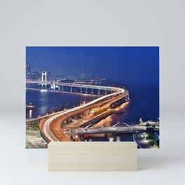 Gwangandaegyo Bridge (Busan, South Korea) Mini Art Print