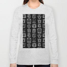 Kickass Kitties - white on black Long Sleeve T-shirt