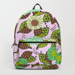 Atypical leaves and flowers Backpack