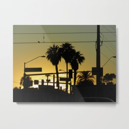 While the Sun Sets  Metal Print
