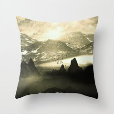 Winter. Melody. Throw Pillow