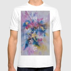Golden Harvest Painting MEDIUM White Mens Fitted Tee
