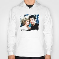 grease Hoodies featuring Sandy and Danny from Grease - Painting Style by ElvisTR