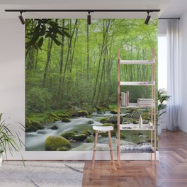 Spring Forest Stream Wall Mural
