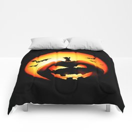 Smile Of Scary Pumpkin Comforters