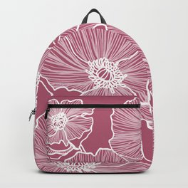 Lipstick Poppies Backpack