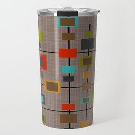 Mid-Century Modern Squares Pattern Travel Mug