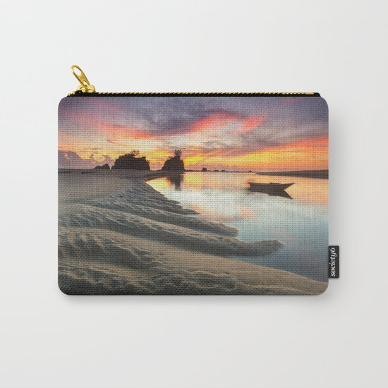 Canoe on the Water at Sunset  Carry-All Pouch