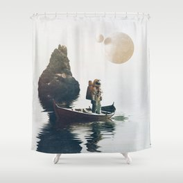 Searching Land Shower Curtain