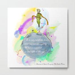 Little Prince World Metal Print