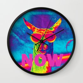 Encouraging Llama Wall Clock