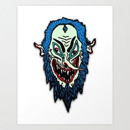 Lord Wizard Head Art Print