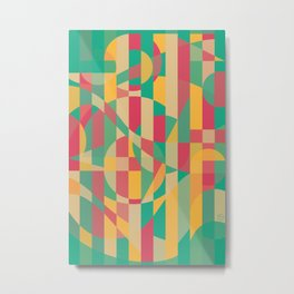 Abstract Graphic Art - Contemporary Music Metal Print