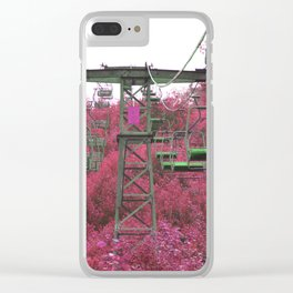 Ski Lift in the Summer Clear iPhone Case