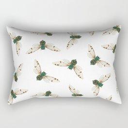 Cicada Jewels (White & Noir) Rectangular Pillow