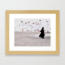 Arabs crossing Framed Art Print