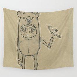 Bear Guy Spirit Animal Wall Tapestry
