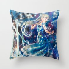 Empty Blue Throw Pillow