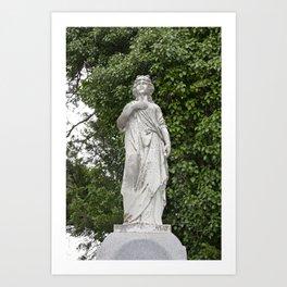 Woman Statue Art Print