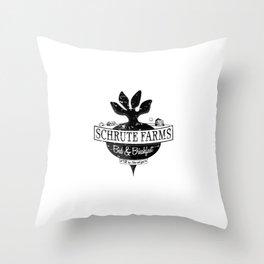 Farms Black Throw Pillow