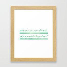 I Really Like You Framed Art Print