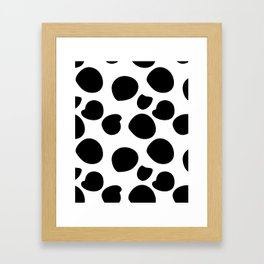 Big Black Spots Framed Art Print