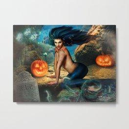 Deep Sea Halloween Party Metal Print
