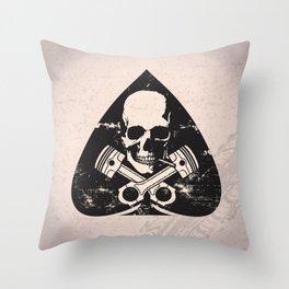 Grunge ace of spades Throw Pillow
