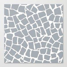 Mosaic Zoom Grey Canvas Print