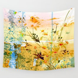 flowers at the beach Wall Tapestry