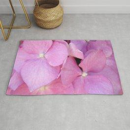 Close Up of Pink Hydrangea Blossom Rug