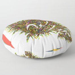 Fractal Mist Floor Pillow