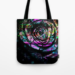 Abstract Painted Rose Tote Bag
