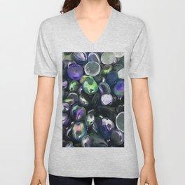 Decorative Glass Pebble Stones Painting Unisex V-Neck